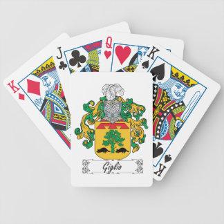 Escudo de la familia de Giglio Baraja Cartas De Poker