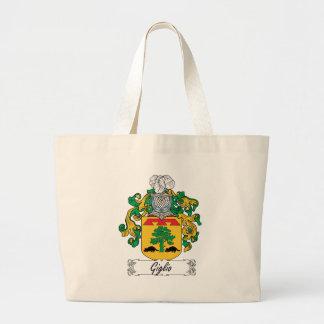 Escudo de la familia de Giglio Bolsa Tela Grande