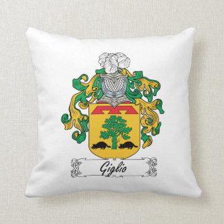 Escudo de la familia de Giglio Cojines
