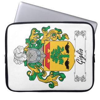 Escudo de la familia de Giglio Fundas Ordendadores