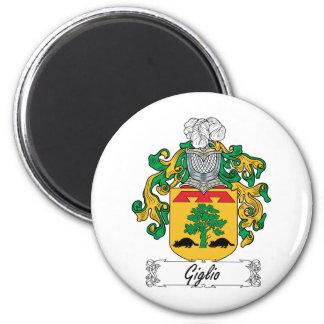 Escudo de la familia de Giglio Imán Redondo 5 Cm
