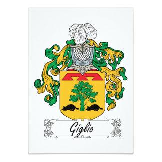 """Escudo de la familia de Giglio Invitación 5"""" X 7"""""""