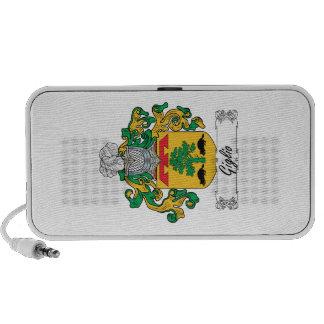 Escudo de la familia de Giglio iPhone Altavoces