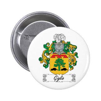 Escudo de la familia de Giglio Pin Redondo 5 Cm