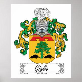 Escudo de la familia de Giglio Póster