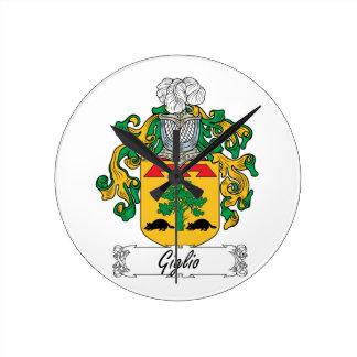 Escudo de la familia de Giglio Relojes