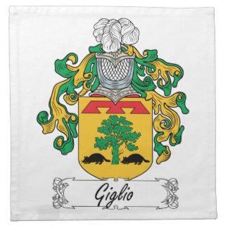 Escudo de la familia de Giglio Servilleta