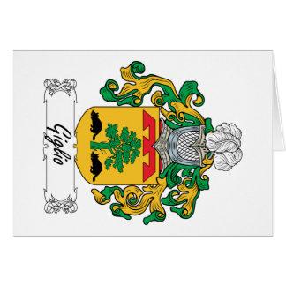 Escudo de la familia de Giglio Tarjeta De Felicitación