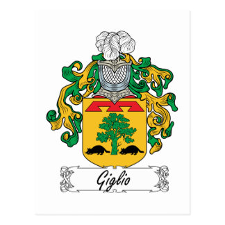 Escudo de la familia de Giglio Tarjeta Postal