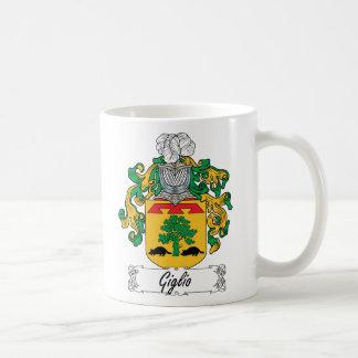 Escudo de la familia de Giglio Taza Básica Blanca