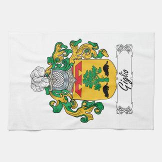 Escudo de la familia de Giglio Toallas
