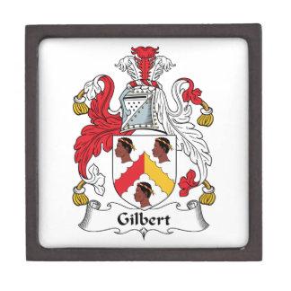 Escudo de la familia de Gilbert Caja De Regalo De Calidad