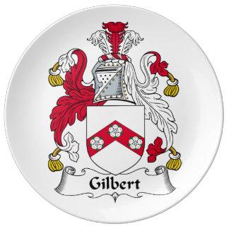 Escudo de la familia de Gilbert Plato De Cerámica