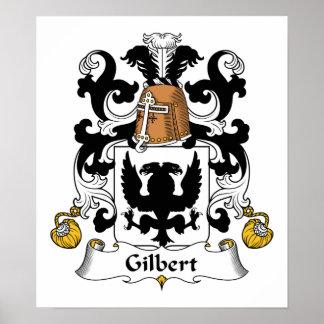 Escudo de la familia de Gilbert Póster