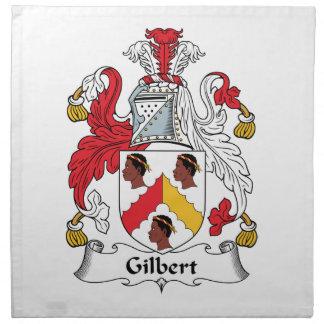 Escudo de la familia de Gilbert Servilletas