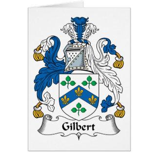 Escudo de la familia de Gilbert Tarjeta De Felicitación