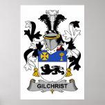 Escudo de la familia de Gilchrist Poster