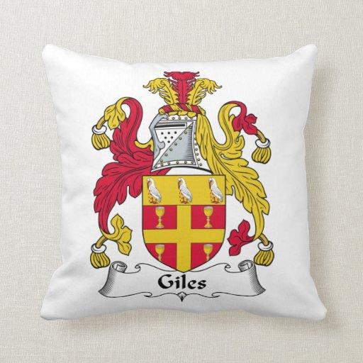 Escudo de la familia de Giles Cojín Decorativo