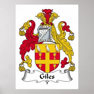 Escudo de la familia de Giles Póster