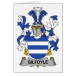 Escudo de la familia de Gilfoyle Felicitación