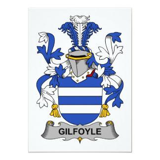 """Escudo de la familia de Gilfoyle Invitación 5"""" X 7"""""""