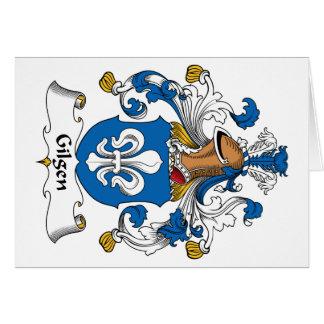 Escudo de la familia de Gilgen Felicitación