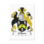 Escudo de la familia de Gillam Impresion De Lienzo