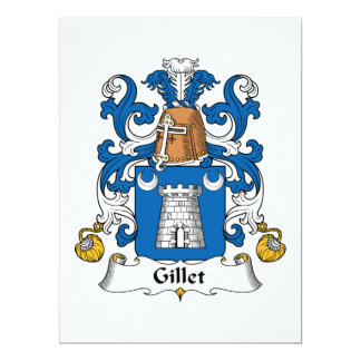 """Escudo de la familia de Gillet Invitación 6.5"""" X 8.75"""""""