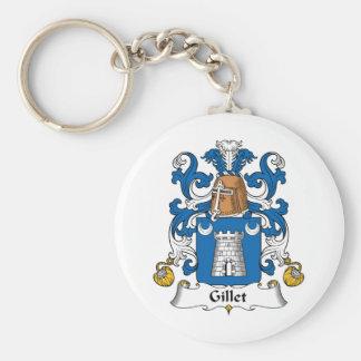 Escudo de la familia de Gillet Llavero Redondo Tipo Pin