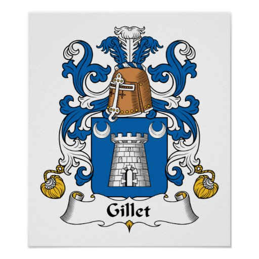 Escudo de la familia de Gillet Póster
