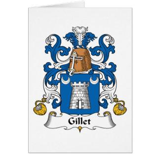 Escudo de la familia de Gillet Tarjeta De Felicitación