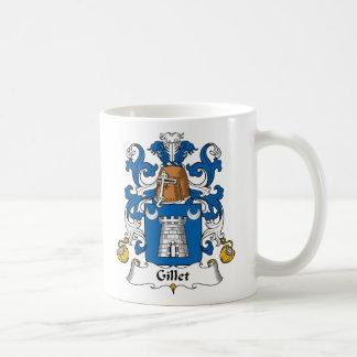 Escudo de la familia de Gillet Taza Básica Blanca