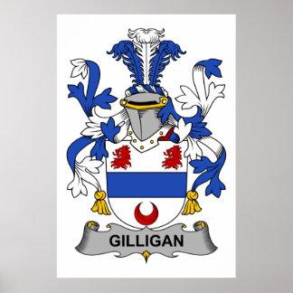Escudo de la familia de Gilligan Póster