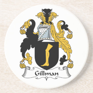 Escudo de la familia de Gillman Posavasos Cerveza