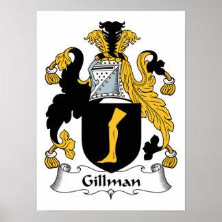 Escudo de la familia de Gillman Poster