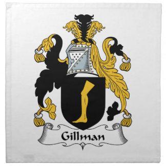 Escudo de la familia de Gillman Servilletas Imprimidas