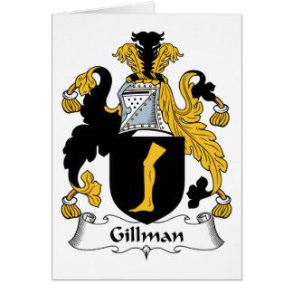 Escudo de la familia de Gillman Tarjeta