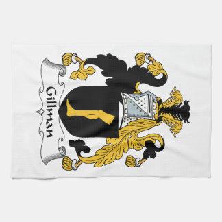 Escudo de la familia de Gillman Toalla De Cocina