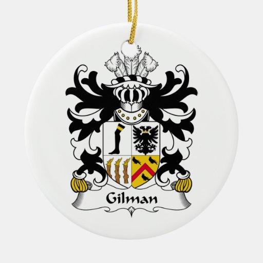Escudo de la familia de Gilman Adorno Redondo De Cerámica