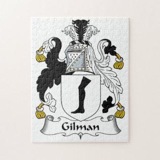 Escudo de la familia de Gilman Rompecabezas Con Fotos