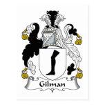 Escudo de la familia de Gilman Tarjetas Postales