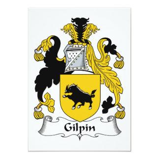 """Escudo de la familia de Gilpin Invitación 5"""" X 7"""""""