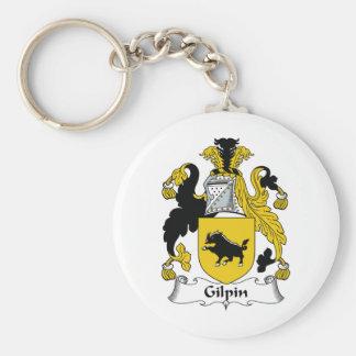 Escudo de la familia de Gilpin Llavero Redondo Tipo Pin