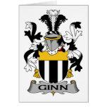 Escudo de la familia de Ginn Tarjeta