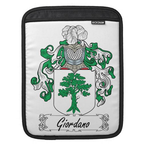 Escudo de la familia de Giordano Funda Para iPads
