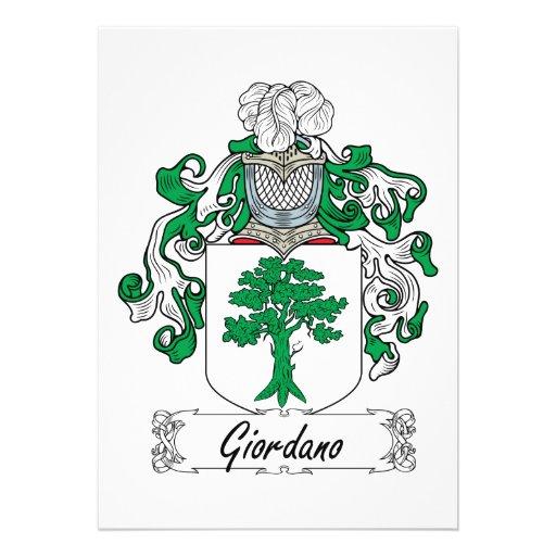 Escudo de la familia de Giordano Anuncio Personalizado