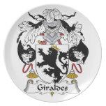 Escudo de la familia de Giraldes Plato Para Fiesta
