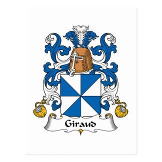Escudo de la familia de Giraud Postal
