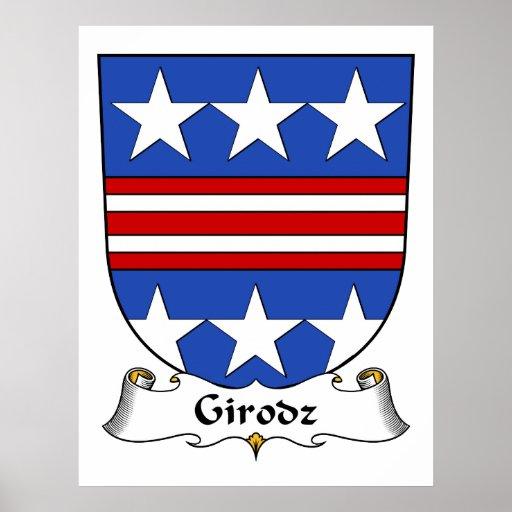 Escudo de la familia de Girodz Impresiones