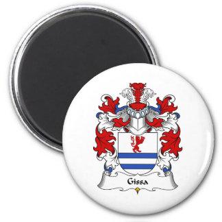 Escudo de la familia de Gissa Imán Redondo 5 Cm